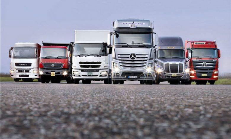 قیمت کامیون های کارکرده