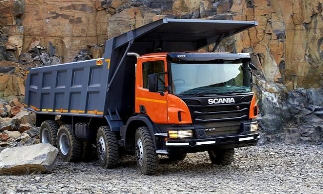 کامیون کمپرسی اسکانیا P410