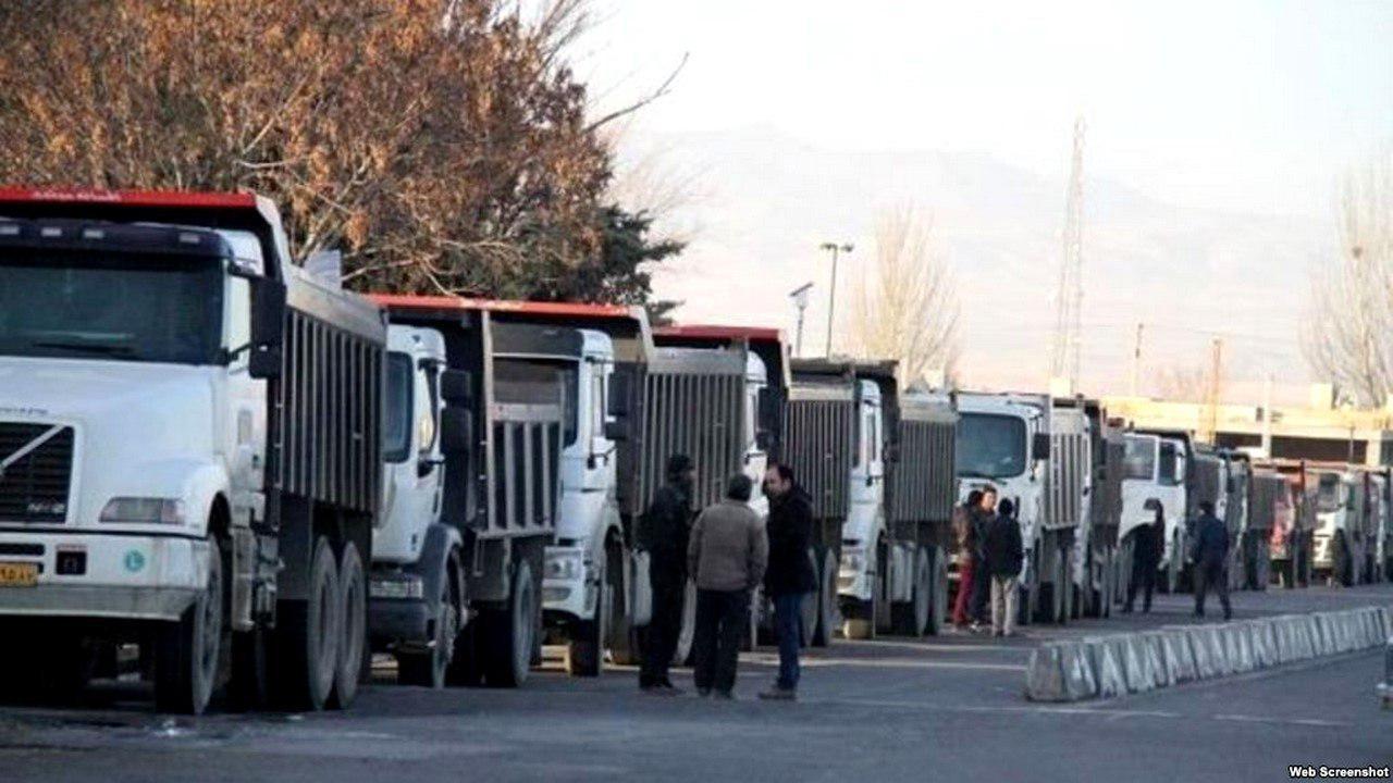 اعتصاب کامیون داران به خاطر بیمه