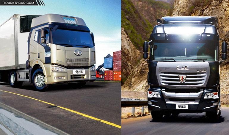 مقایسه کامیون فاو و سی اند سی