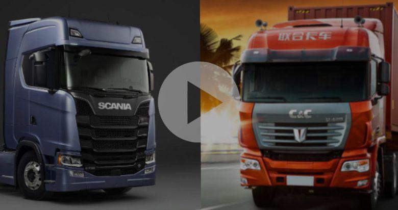 ویدیو مقایسه کشنده c&c و اسکانیا